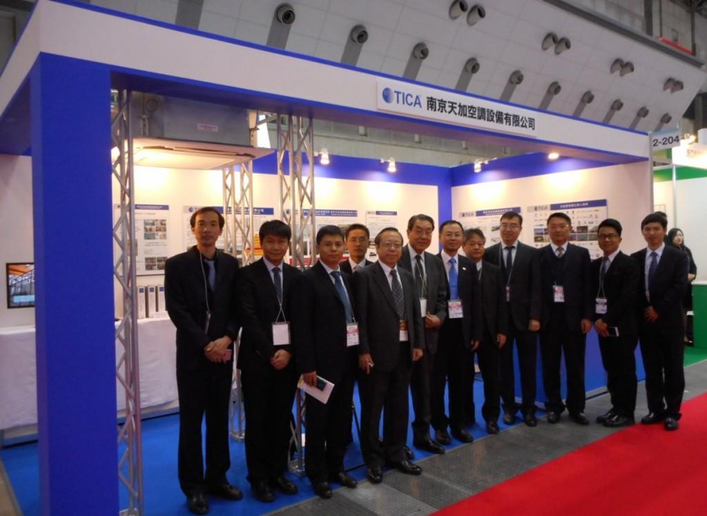董事長を含む南京本社のメンバーも出展応援に来ています。